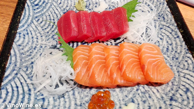 Sashimi mixto del Restaurante Nozomi en Valencia
