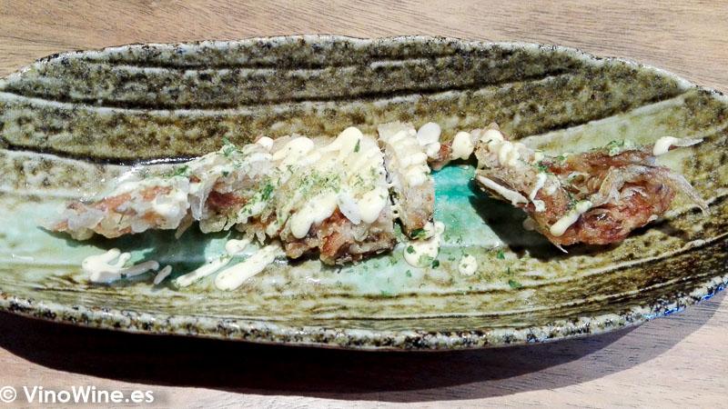 Tempura de soft crab del Restaurante Nozomi en Valencia
