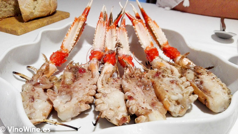 La cigala del Restaurante Maralba en Almansa