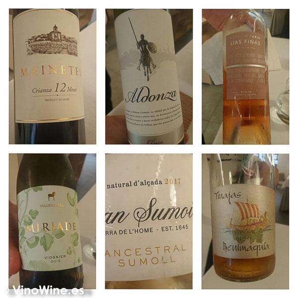 Vinos disfrutados en Restaurante Maralba en Almansa