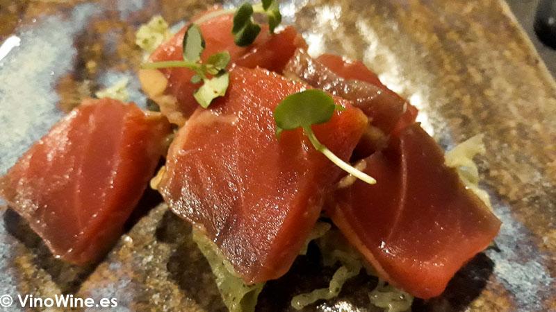 Atun y sisho del Restaurante Fierro en Valencia