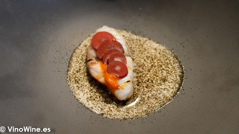 Rape y zanahoria del Restaurante Fierro en Valencia