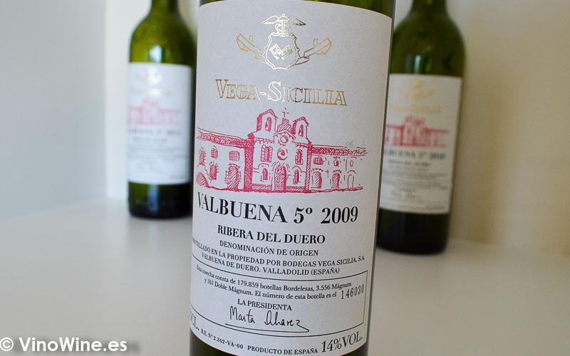 Valbuena 5º 2009 Cata vertical de Valbuena 5 de Vega Sicilia