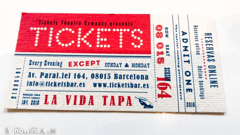 Ticket de entrada al Restaurante Tickets en Barcelona