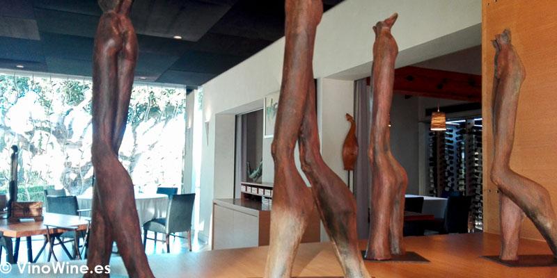 Detalle decorativo de la sala del Restaurante Bonamb de Javea en Alicante