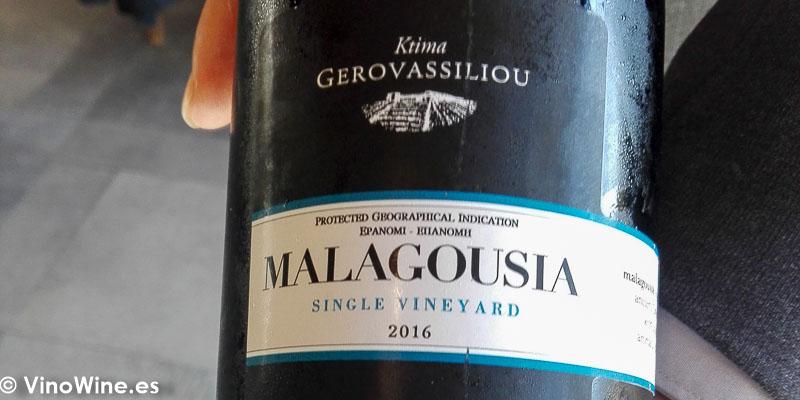 Ktima Gerovassiliou 2016 Malagousia bebido en el Restaurante Bonamb de Javea en Alicante