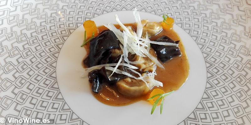 Ostra curada del Restaurante Bonamb de Javea en Alicante