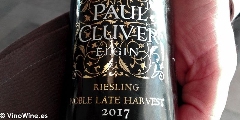 Paul Cluver Riesling 2017 Noble late harverst bebido en el Restaurante Bonamb de Javea en Alicante