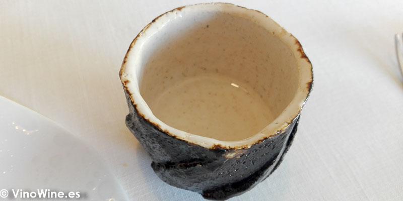Sake Shochu Kensho bebido en el Restaurante Bonamb de Javea en Alicante