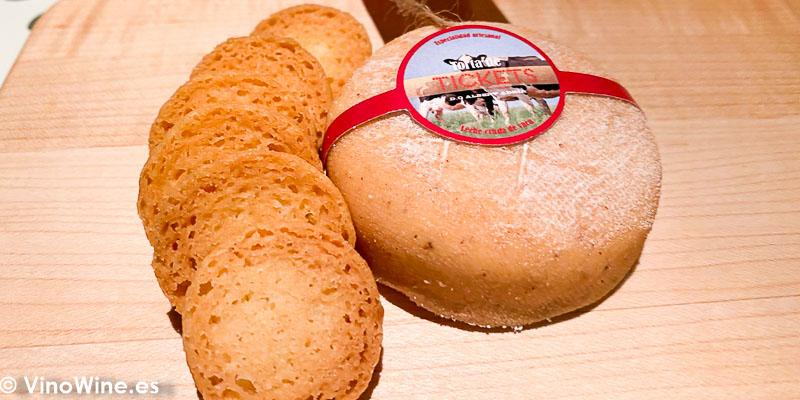 Tarta de queso del Restaurante Tickets en Barcelona