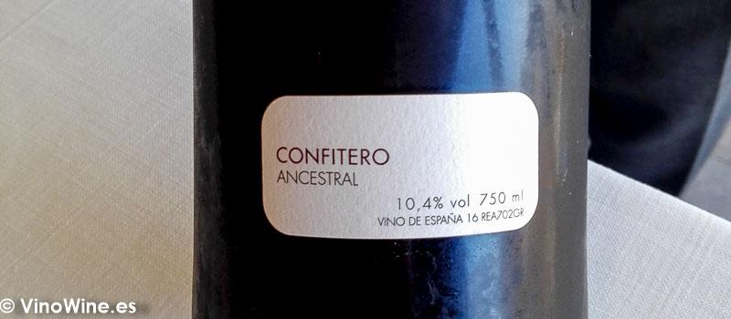 Vino Confitero Ancestral bebido en el Restaurante Bonamb de Javea en Alicante