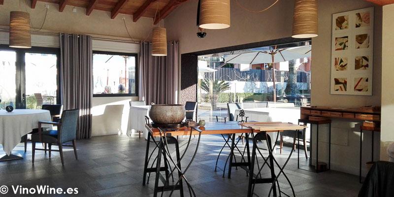 Vista parcial de la sala del Restaurante Bonamb de Javea en Alicante