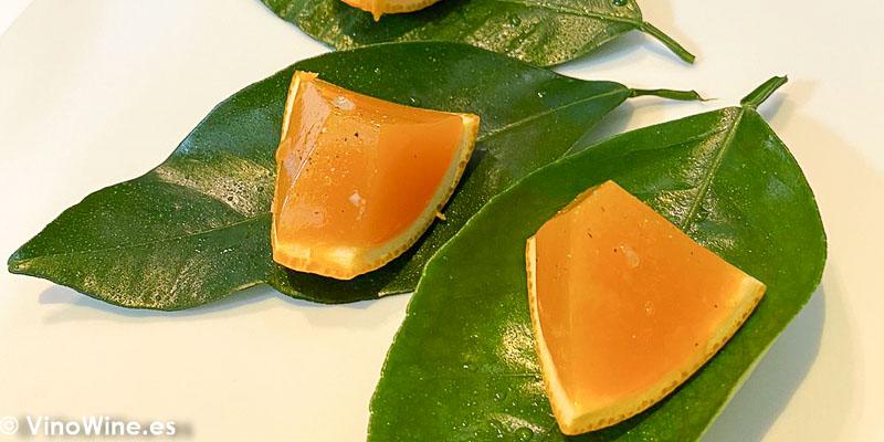 vermut naranja del Restaurante Tickets en Barcelona