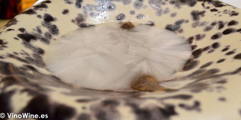 Acedia cocinada con sal liquida del Restaurante Aponiente el Chef del Mar