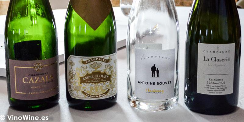Champagnes degustados en el Restaurante Aponiente el Chef del Mar