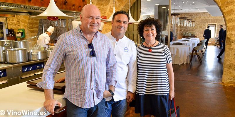Jose Ruiz y Ana Juan con Angel Leon del Restaurante Aponiente el Chef del Mar