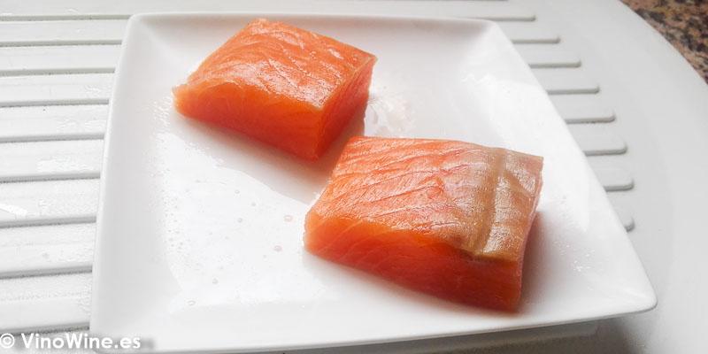 Lomos de salmon para la Receta de Salmon negro de Toni Grimalt