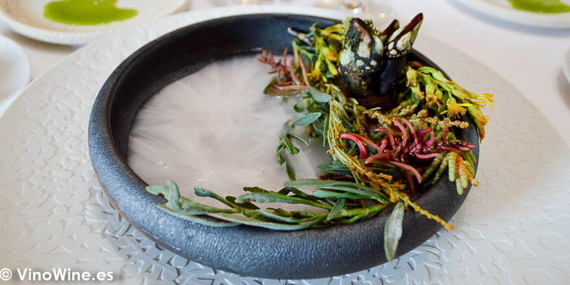 Percebe con sal liquida del Restaurante Aponiente el Chef del Mar