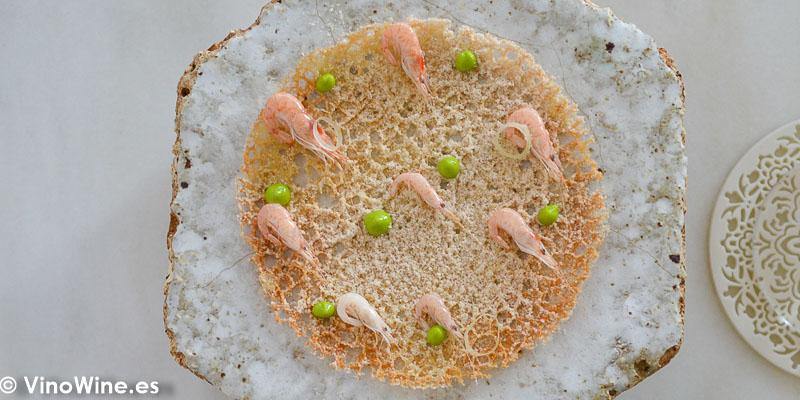 Tortillita de camaron del Restaurante Aponiente el Chef del Mar