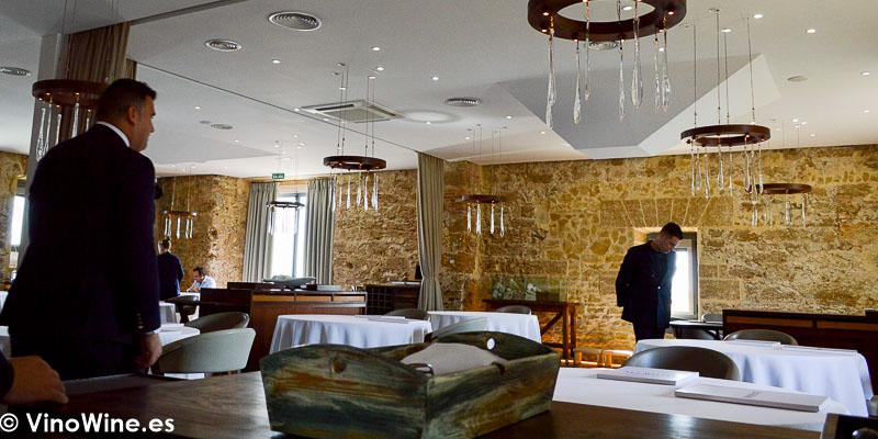 Vista parcial de la sala del Restaurante Aponiente el Chef del Mar