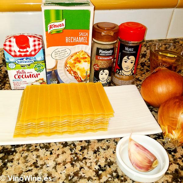 Ingredientes para elaborar la Receta de lasagna de pescado de Toni Grimalt