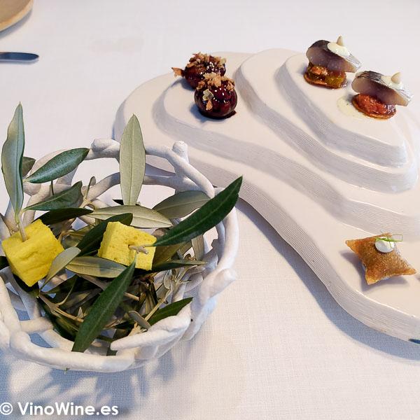 Snacks del menu Goleta del Restaurante Atalaya de Alcossebre
