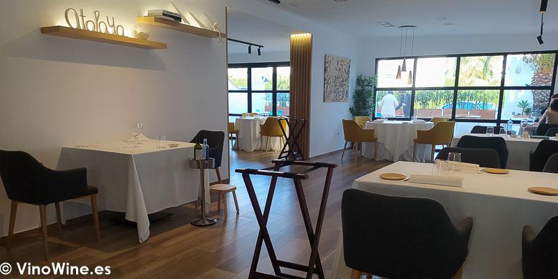 Vista parcial del comedor del Restaurante Atalaya en Alcossebre