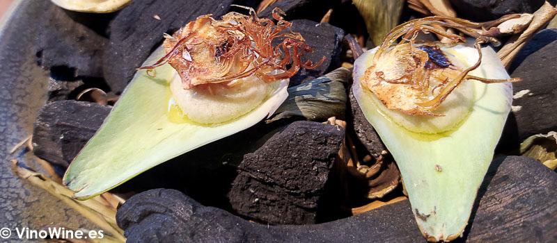 Humus de alcachofa del Restaurante L Escaleta en Cocentaina Alicante