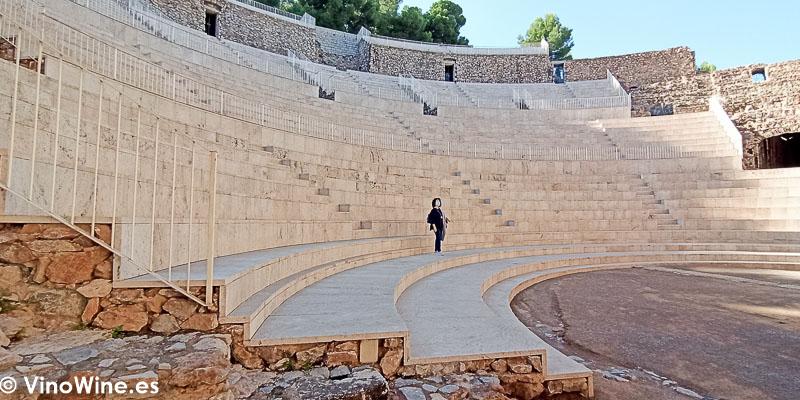 Teatro Romano de Sagunto cerda de la ubicación el Restaurante Arrels en Sagunto