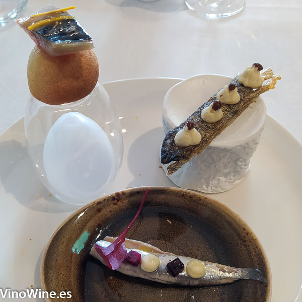 Aperitivos iniciales degustados en el restaurante Cal Paradis de Vall Alba en Castellon