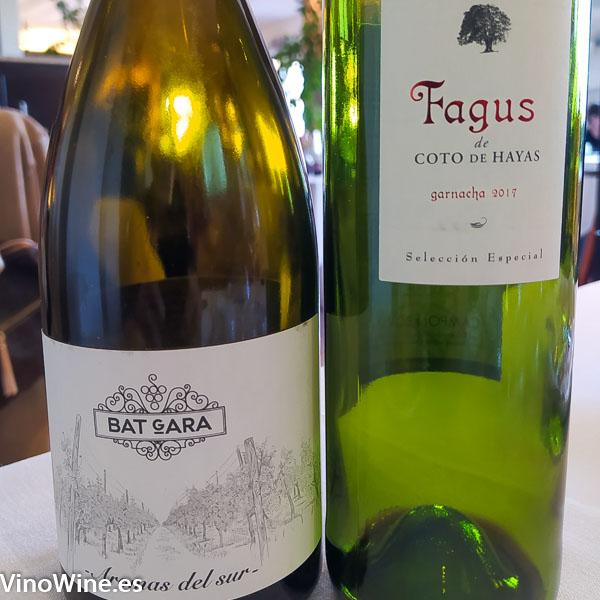 Los vinos degustados en el Restaurante Cal Paradis de Vall Alba en Castellon