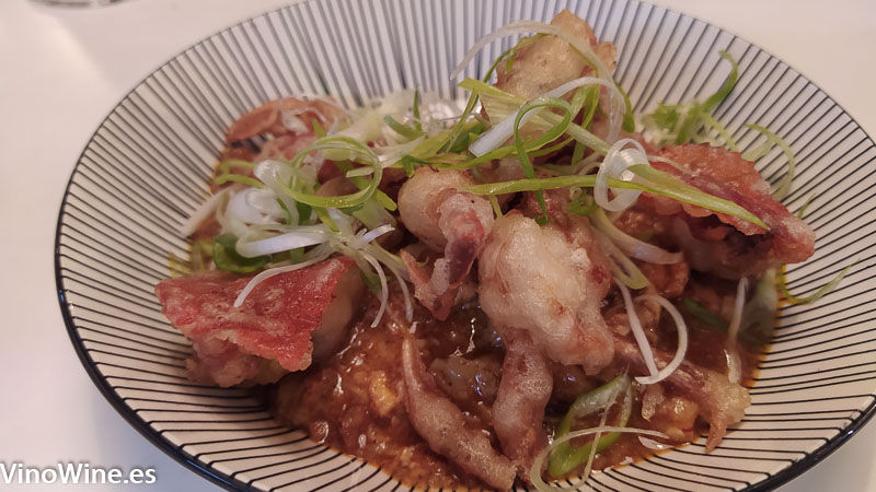 Chilly Crab del Restaurante Gallina Negra de Valencia