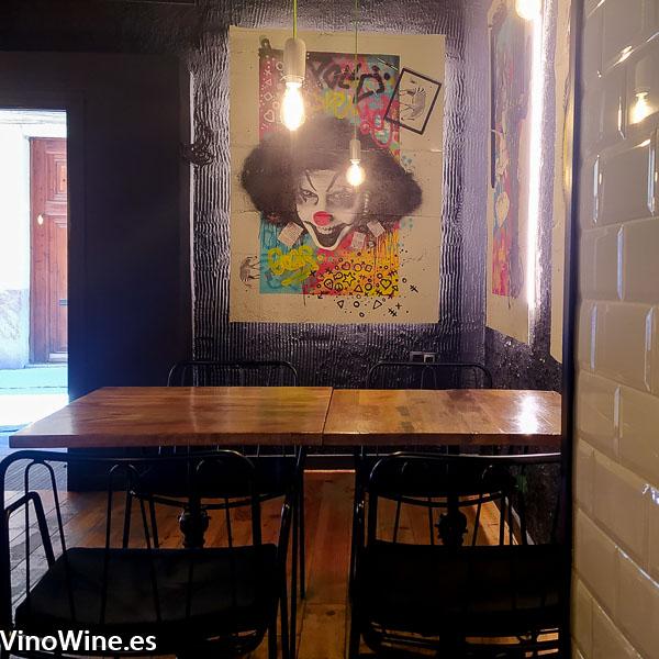 Vista parcial de la sala del Restaurante Gallina Negra de Valencia
