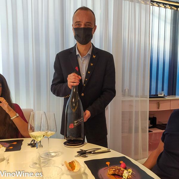 Miguel Angel Millan sumiller del Restaurante Diverxo de Madrid